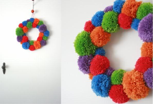 DIY pom pom wreath - mypoppet.com.au