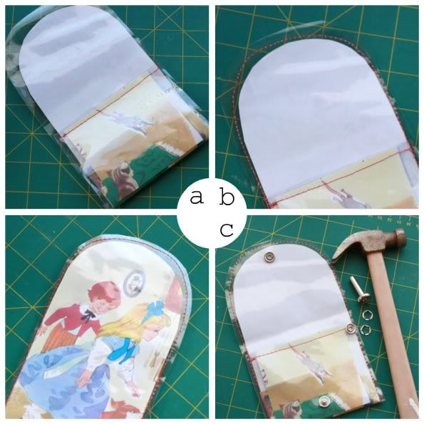 Storybook Coin Purse - DIY PVC purse - mypoppet.com.au