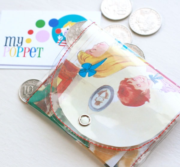 pvc story book coin purse