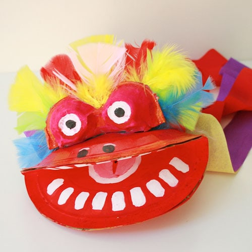 chinese dragon puppet craft
