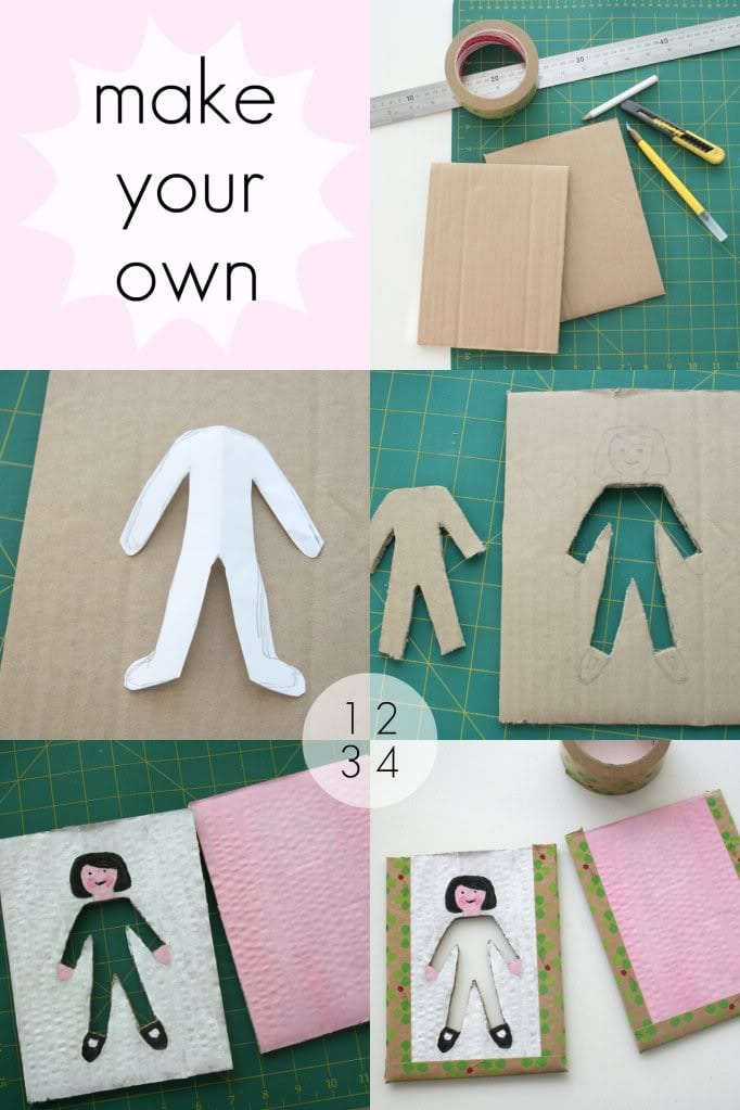 How to make a cardboard dressing girl game mypoppet.com.au