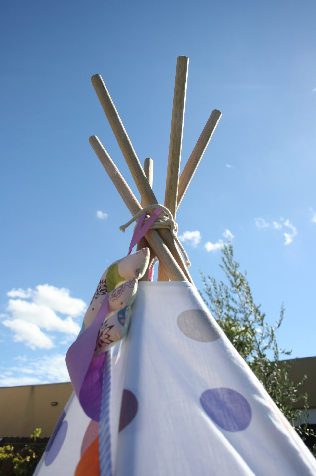 how to make a tee pee frame