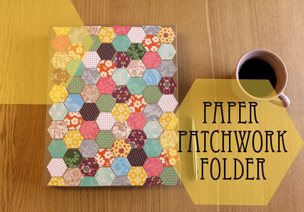 How To Paper Patchwork Folder My Poppet Makes