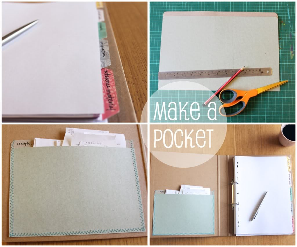 DIY Patchwork folder with dividers - mypoppet.com.au