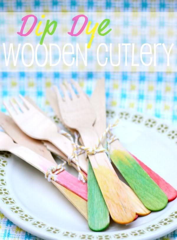 Dip Dye wooden cutlery - mypoppet.com.au