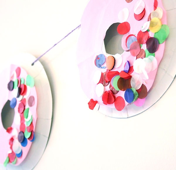 doughnut garland diy kids craft
