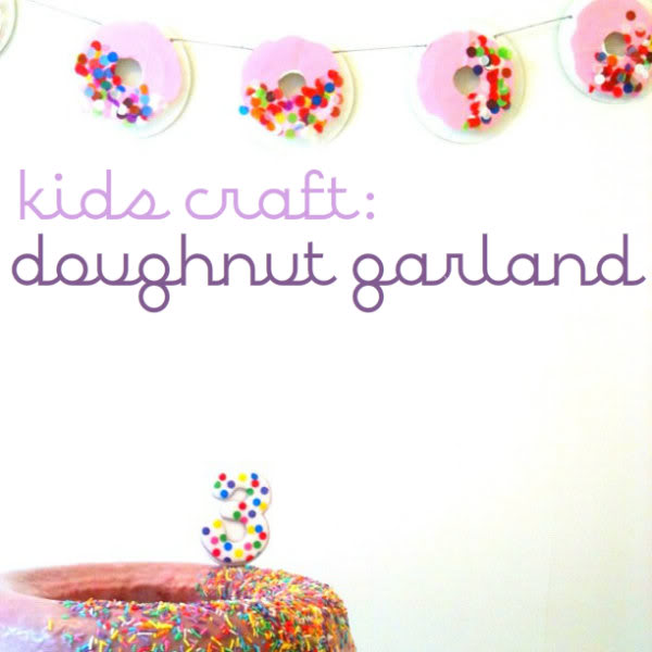 how to make a donut garland from paper plates - mypoppet.com.au