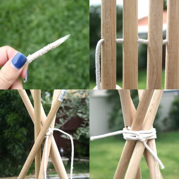 How to make a Tee Pee Part 1 mypoppet.com.au & How To: DIY Tee Pee Tent - part 1 | My Poppet Makes