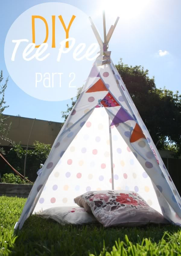 How To DIY Tee Pee Tent u2013 part 2 & How To: DIY Tee Pee Tent - part 2 | My Poppet Makes