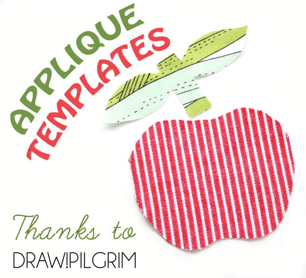 Printable Applique patch template mypoppet.com.au