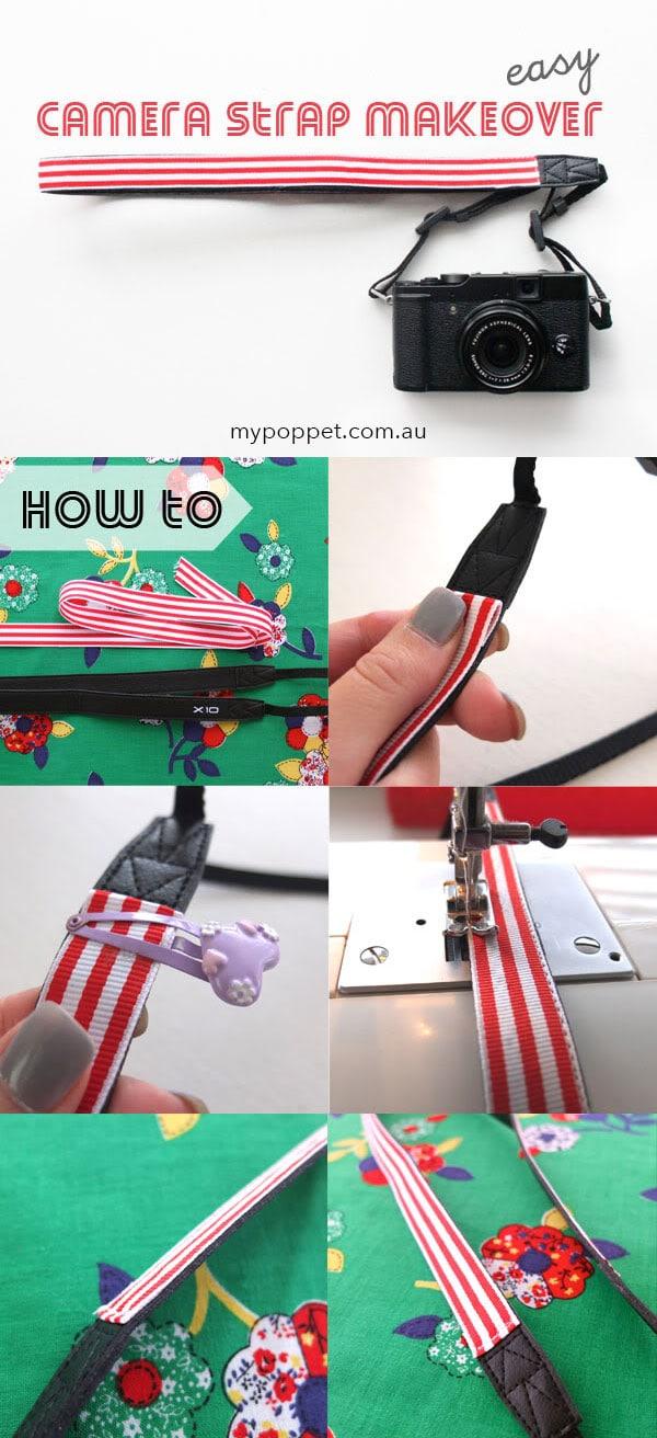 How to makeover a Camera Strap - mypoppet.com.au
