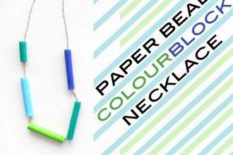Paper bead Necklace - mypoppet.com.au