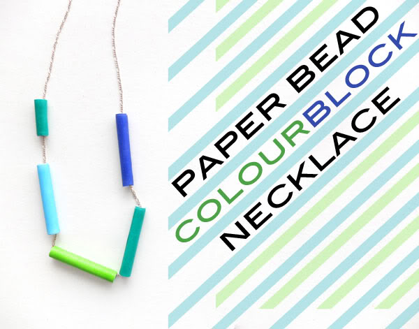 Paper bead Necklace - mypoppet.com.au