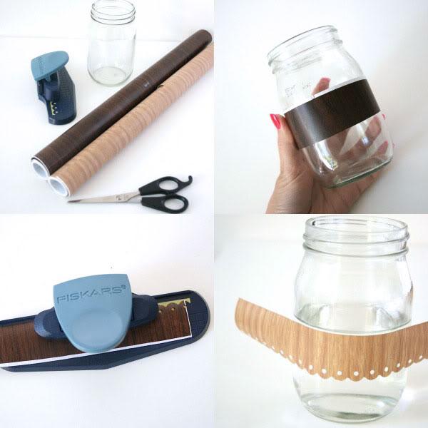 DIY jar makeover - steps