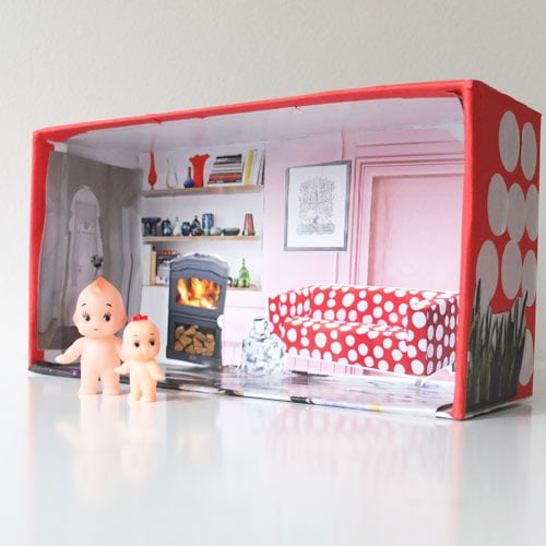 Kids Craft: Shoe Box Doll House