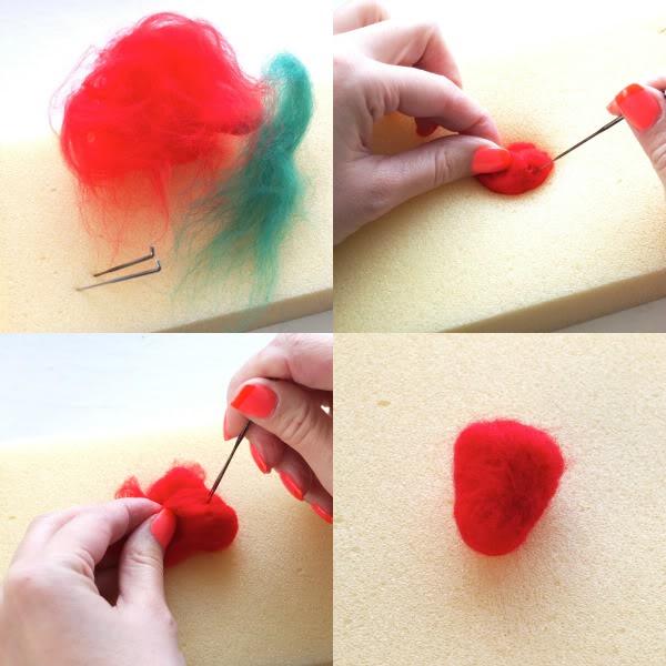 How to needlefelt a Strawberry - play food craft - mypoppet.com.au