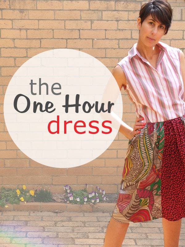 one hour dress refashion