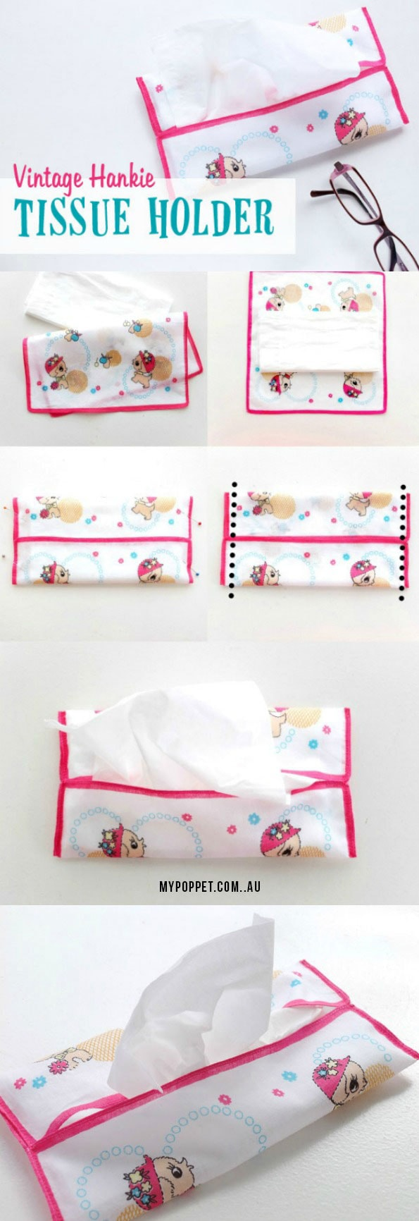 How to make a tissue holder - perfect for travel packing - mypoppet.com.au