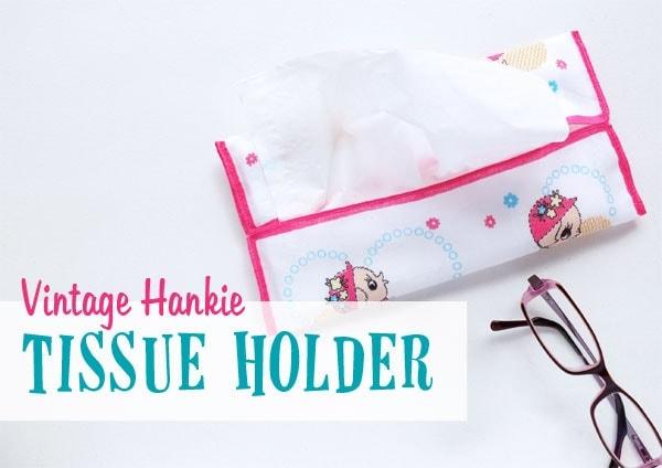 Vintage Hankie Tissue Holder - mypoppet.com.au