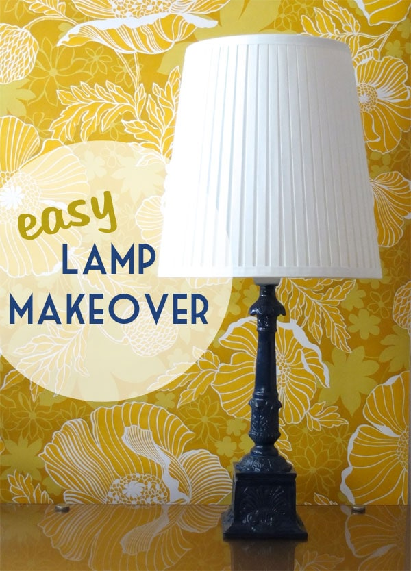 How to easy lamp makeover spray painting tips my poppet makes how to easy lamp makeover spray painting tips aloadofball Images