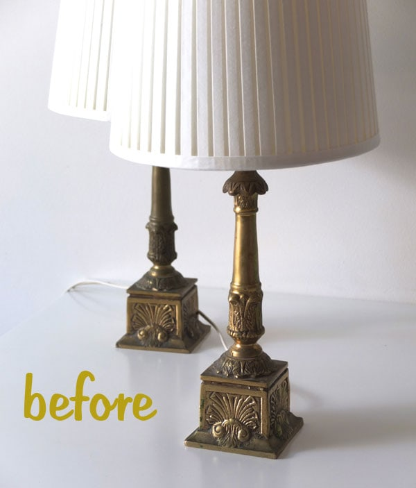 how to easy lamp makeover spray painting tips my. Black Bedroom Furniture Sets. Home Design Ideas