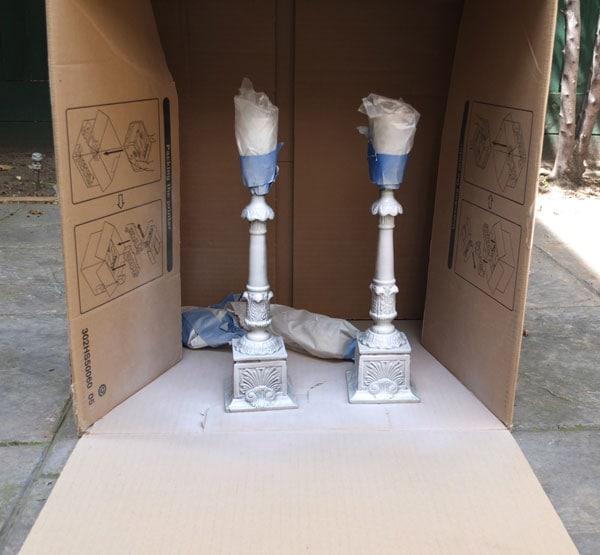 Spraypaint lamp makeover