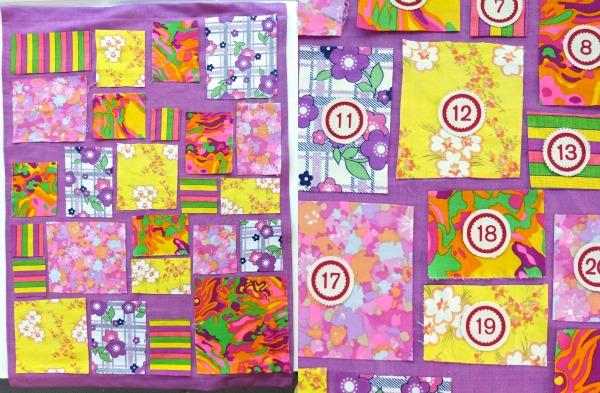 Neon patchwork advent calendar