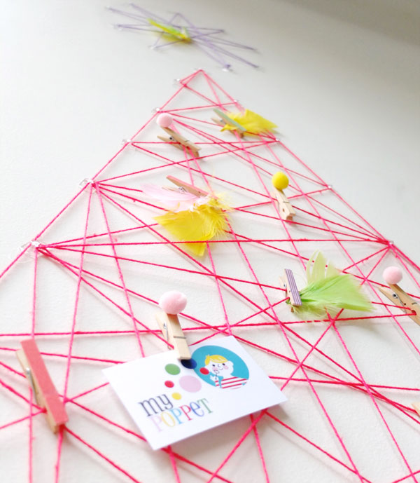 neon string art christmas tree
