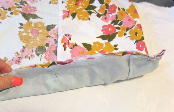 How to make a Duvet cover from old sheets - mypoppet.com.au