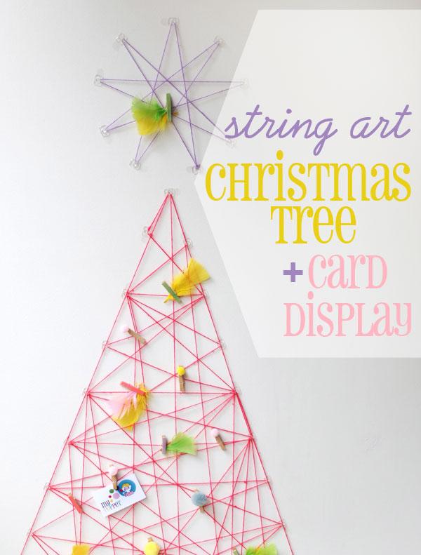 String wall christmas tree
