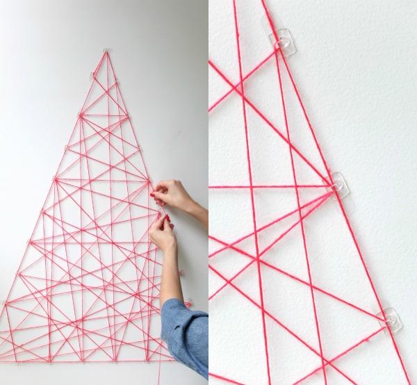 modern christmas tree string