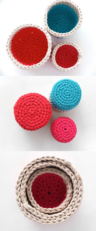 Zpagetti crochet yarn basket