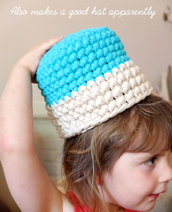 Girl with basket hat