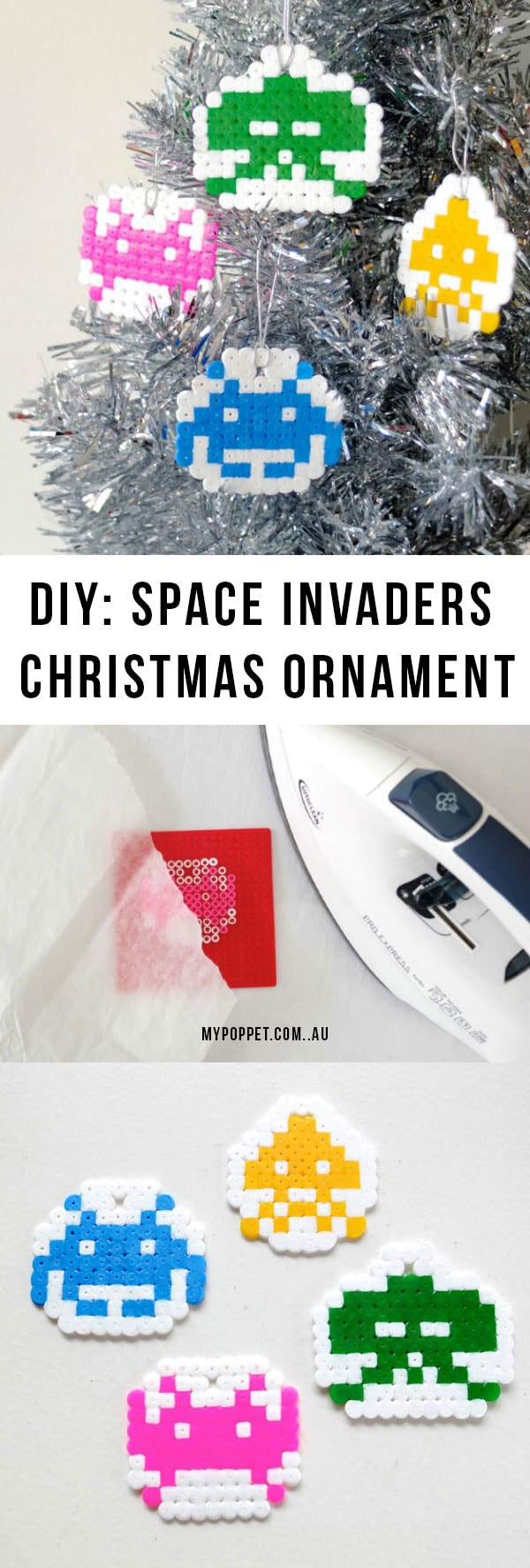 Fun Space Invaders Christmas Ornament - Geek Craft - mypoppet.com.au