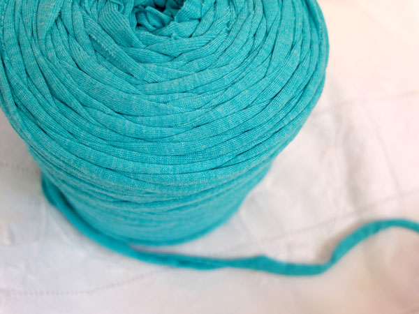 turquoise zpagetti yarn