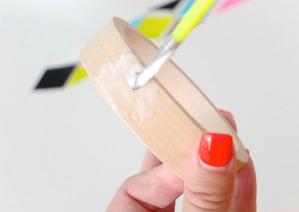 design your own decoupage bangle tutorial DIY My Poppet