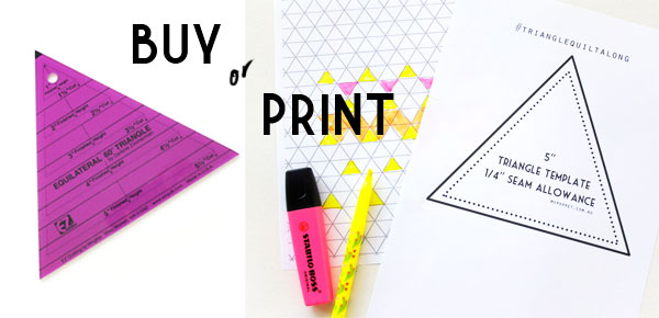 Printable triangle template and grid paper