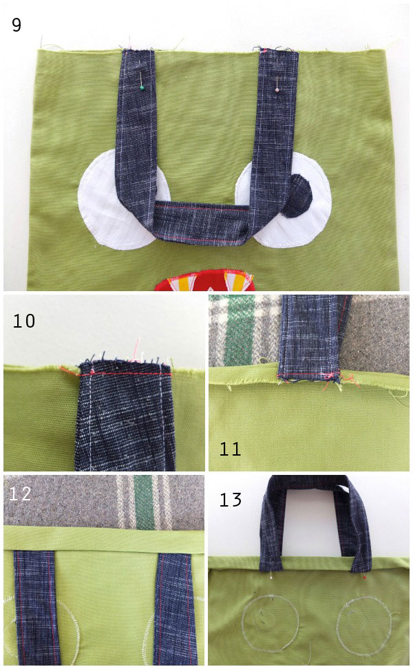 how to attach straps to tote bag