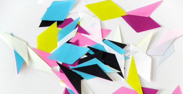 Origami paper craft cut shapes