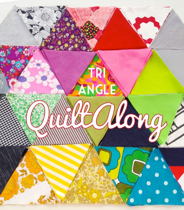 Fabric triangles quiltalong