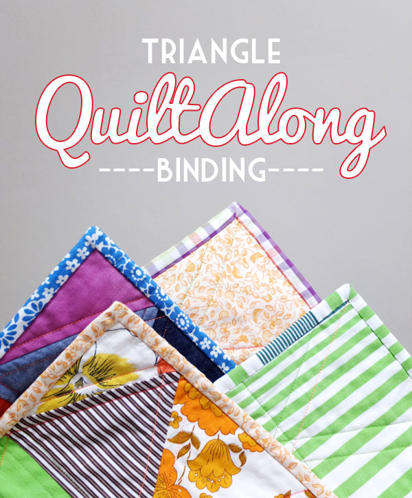 Triangle Quiltalong - Binding tutorial My Poppet