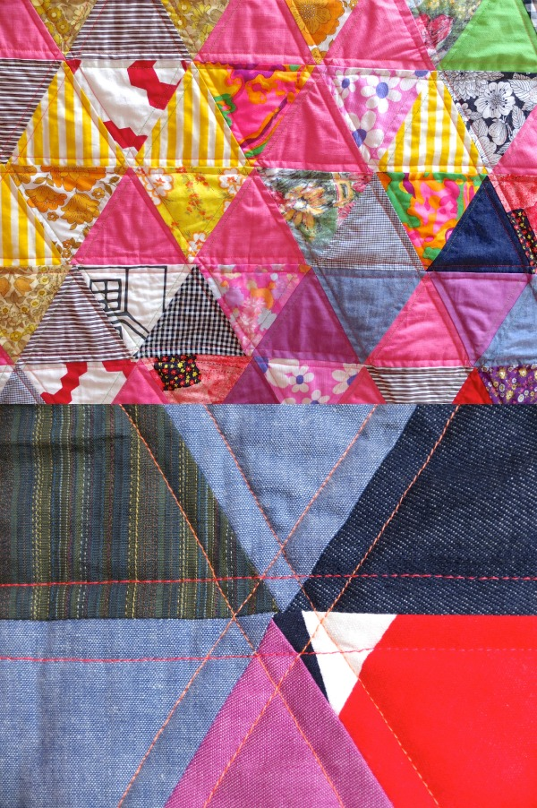 triangle quilt quilting design