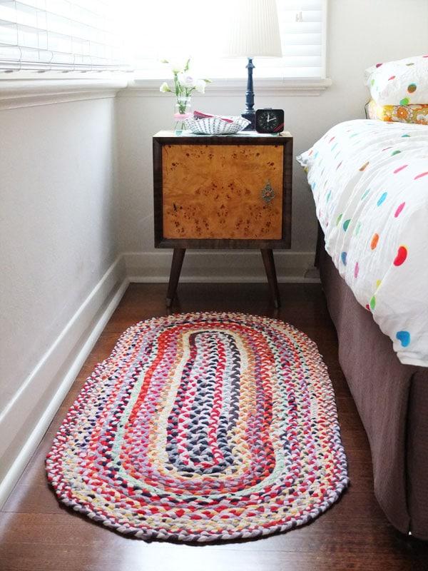 Finished rag rug