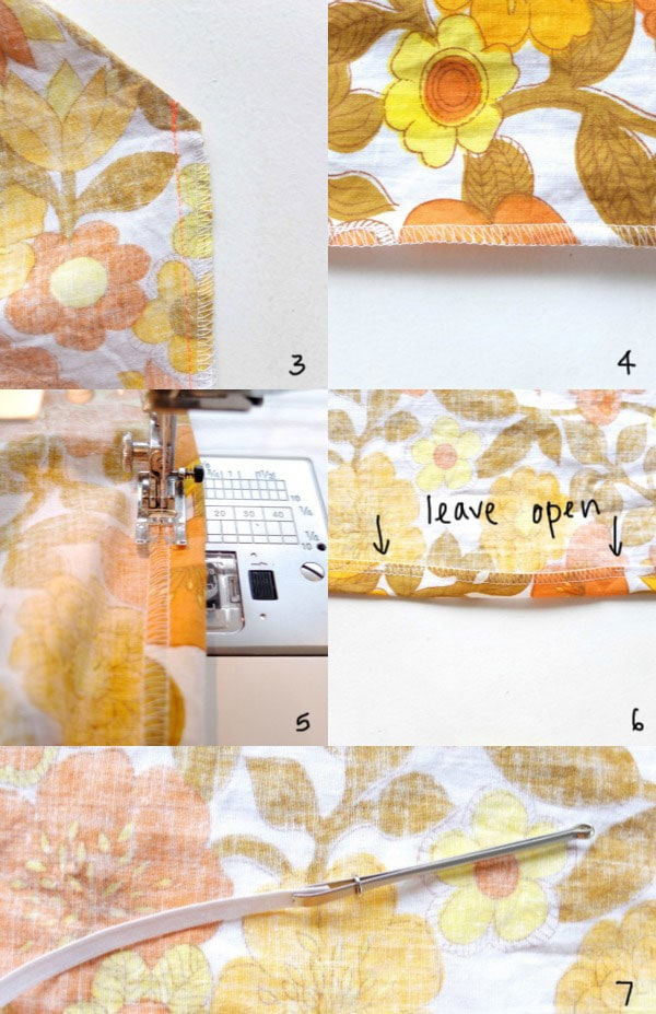Sew a fitted sheet tutorial steps