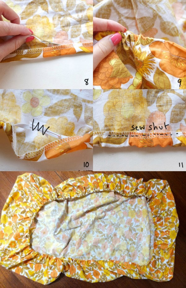 How to make a fitted sheet - easy fitted sheet instructions - mypoppet.com.au
