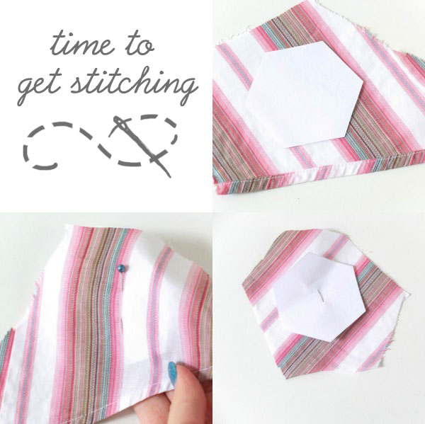 how to stitch paper hexagon