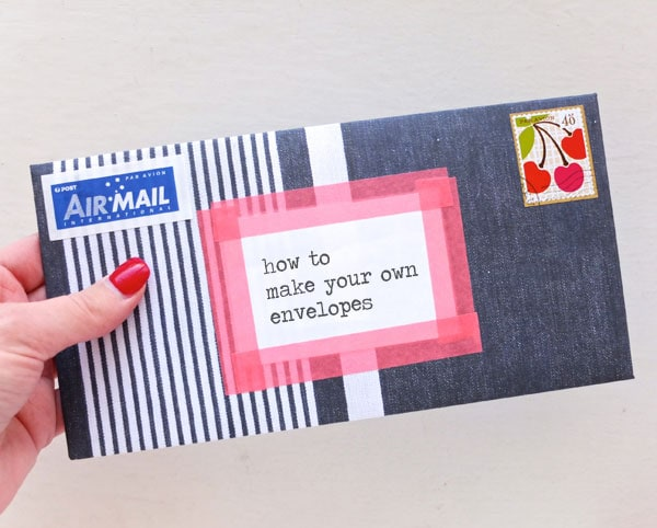 make your own envelope DIY