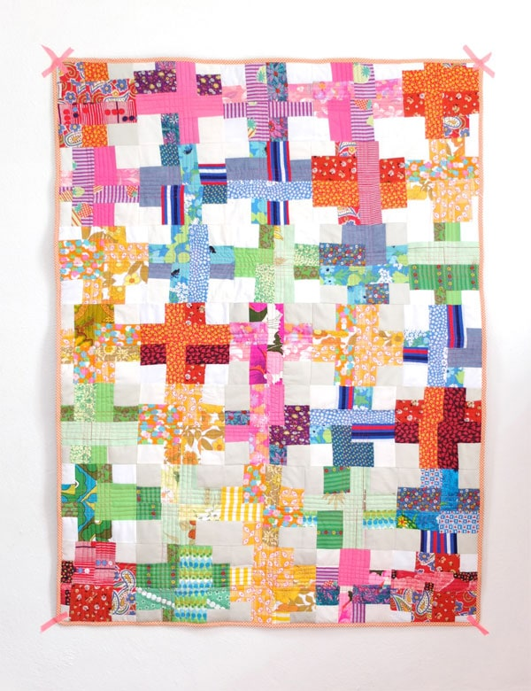 Finished Cross quilt step by step