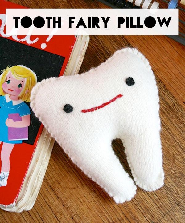 Felt tooth pillow pattern DIY