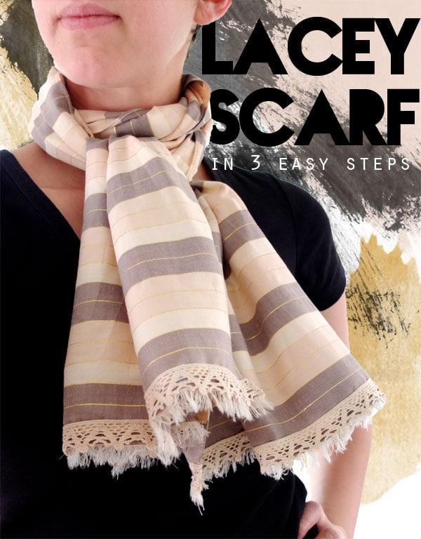 make a lacey scarf mypoppet.com.au